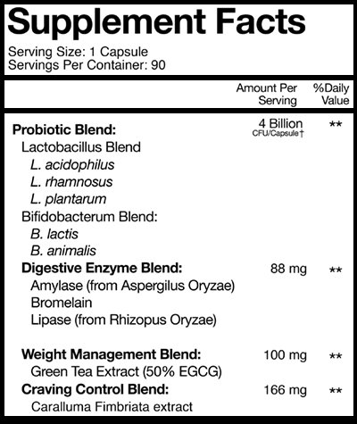 nucific biox4 supplement facts label